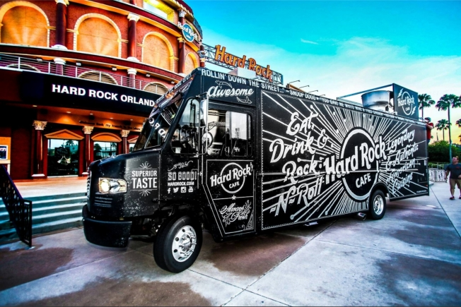 Hard Rock Cafe Food Truck Art Design by CJ Hughes @ CustomChalk.com