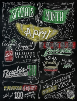 Dover publications chalkboard coloring book - hand lettered by cj hughes